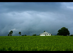 Tropical Storm on Sugar Cane Hill (fotofantasea) Tags: door travel blue roof light sky plants white house storm building tree green window nature clouds composition contrast landscape grey bravo hill australia roadtrip crop frame queensland mackay 162 sugarcane abigfave anawesomeshot impressedbeauty diamondclassphotographer auselite