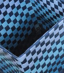 rubbish bin (FRAMES OF MIND ~ Chris Preen) Tags: blue abstract checks rubbishbin
