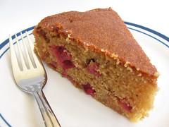 Rhubarb Cornmeal Cake