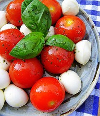 insalata caprese (C.Mariani) Tags: light red white green june pepper spring herbs tomatoes salt fresh basil colourful oliveoil coolest mozzarella italians mycreation extravirgin abigfave colorphotoaward mediterrasian flickrelite thatsclassy