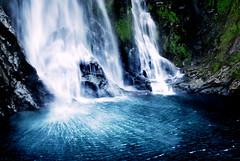 Plunge (The Pack) Tags: ocean blue newzealand fall water pool waterfall falls milfordsound plummet thepack:a=1