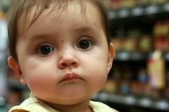 Shopping cart staredown