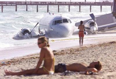 Avión playa