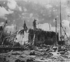 Japanese Block House HQ - Tarawa (afigallo) Tags: japanese war pacific destruction wwii ww2 marines hq blockhouse engineers tarawa betio