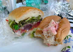 Lobster Roll and Pan Bagnat (HarlanH) Tags: food lunch picnic sandwich lobster roll pan cookingclub bagnat