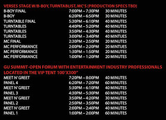 Rock The Bells Festival 2007 - San Bernardino Schedule Part 2