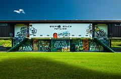 Brewer Pavillion #5 (Ian David Blm) Tags: sky urban cloud sun abandoned beach grass topv111 stairs river geotagged typography graffiti topv555 topv333 shadows ottawa tags 100v10f symmetry mostinteresting spraypaint ride