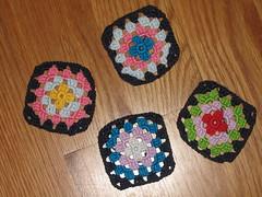 crochet (SusanaDuarte) Tags: crochet quadrados rosetas