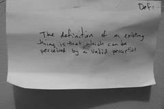 But whose perception is valid? (hunter.gatherer) Tags: blackandwhite handwriting notes definition foundobjects unnameablebooks existingthing