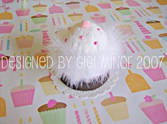 What I Gave: Cupcake Pin Cushion (Pinks & Needles (used to be Gigi & Big Red)) Tags: cherry box sewing cupcake pincushion giftwrap maribou gigiminor pinksandneedles