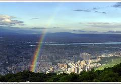 morning rainbow of typhoon PABUK (*dans) Tags: morning rainbow taiwan taipei    typhoon yangmingshan   yanmingshan 20070807 pabuk
