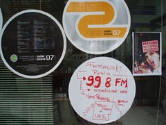 Posters of Zadar snova festival and 99.8 FM Festivalski radio