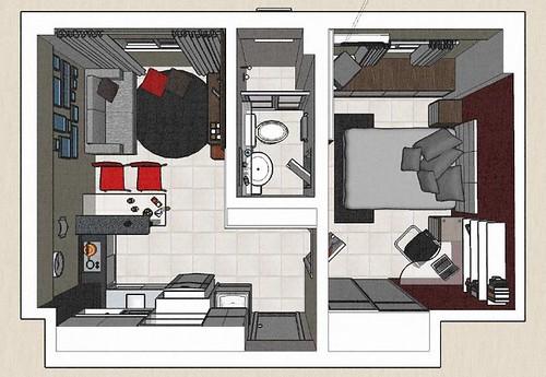 decoracao kitnet jovem : decoracao kitnet jovem:MRV Apartamento Decorado em Pindamonhagaba – SP – Quarto Criança by