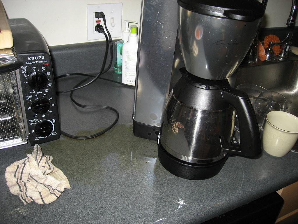 coffee maker spill