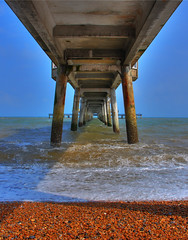 Deal Pier (boobootoo2) Tags: sea beach pier seaside pebbles deal hdr