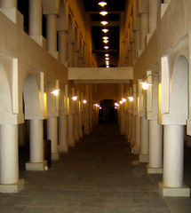 Mulitiple traditional coloumn (D e z i g n e r) Tags: old light colour building art architecture mall arch gulf market traditional arches arabic souq islamic qatar coloumn          waqef dezigner