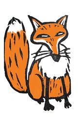 vos / fox (Gertie Jaquet) Tags: gum eraser stamp fox stempel vos