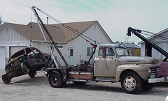 1948 Ford F6 boom truck (styleliner51) Tags: ford truck boom tow wrecker