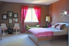 Master bdrm (kimhas7cats) Tags: pink brown ikea bedroom curtains cerise masterbedroom loveandlife
