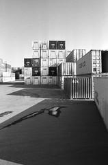 Shipping Containers 1 (klamath_falls) Tags: blackandwhite oregon minoltax700 x700 kodaktmax