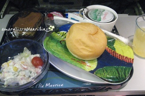 Meal at Mauritius Air