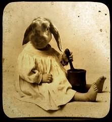 Baby Ninette (Martine Roch) Tags: fiction portrait food baby cute rabbit cooking vintage square surreal montage photomontage manray digitalcollage anial ttv petitechose martineroch abigfave