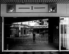 --- | --- (norlys00) Tags: blackandwhite bw shop analog 35mm germany deutschland decay linden hannover shoppingmall predigital ihmezentrum verfall einkaufspassage