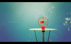 Nothing But Net (isayx3) Tags: blue sky net basketball clouds nikon basket but 24mm nothing swish bball nba f28 d3 24mmf28af multimegashot