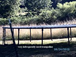 Infrequently used trampoline