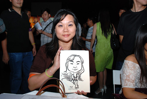 caricature live sketching for SDN First Anniversary Bash - 7