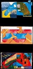 Luis Gordillo - Desarrollo de Andarín Cabezon Duplex 1974