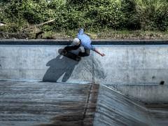 HDR Wallride (xbacksteinx) Tags: pool lumix skateboarding panasonic skateboard manualfocus hdr wallride hdri m43 gaggenau gh1 publicswimmingpool photomatixpro tonemapping nikkor85mmf2ais altesschwimmbad badrotenfels microfourthirds