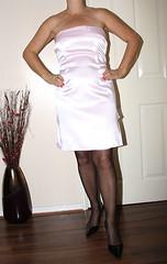 satin dress (sheerglamour) Tags: leather fetish mac dress coat skirt plastic satin nylon pvc governess