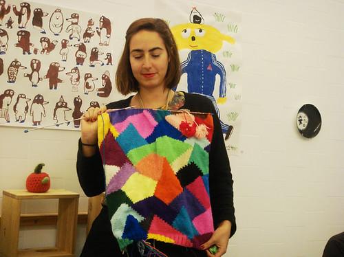 Claudia, la jefa del tricot