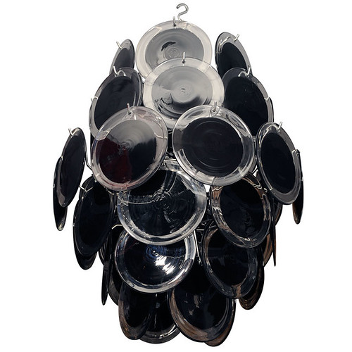 Venfield Black Disc Chandelier