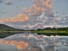 oxbow bend reflection (MatthewPHX) Tags: usa wyoming mountmoran tetons hdr grandtetonnationalpark photomatix oxbowbend singlejpg goldenphotographer