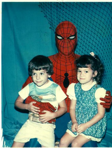 Me and Julie with Spider-man