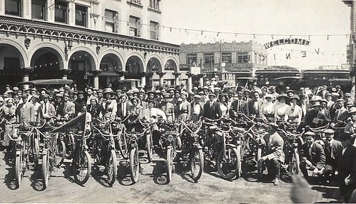 Motorcycles at Venice Beach California
