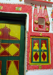 Old Town of Ghadamès, Libya. (© Libyan Soup) Tags: africa house home sahara architecture paint desert interior traditional decoration worldheritagesite arab libya tuareg libyan berbers ghadames unseco jewelofthesahara jamahiriya pearlofthedesert ghadamis ġadāmis ġdāməs oasistown ghadamès alhamadahalhamra ghademes gadamis libyansoup
