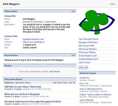 Facebook Group for Irish Bloggers