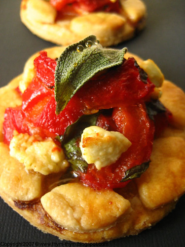 Red peppers tartelettes