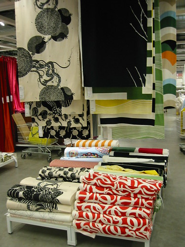 the fabric department at Portland IKEA