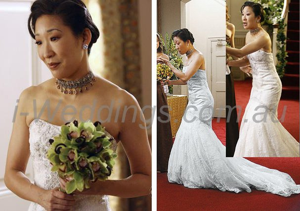 cristina wedding gown grey's anatomy