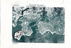 Royal William Yard (Plymouth Libraries) Tags: cornwall map aircraft nazi plymouth aerial devon photograph german target bomb blitz bombing reich devonport secondworldwar stonehouse luftwaffe plymstock saltash torpoint