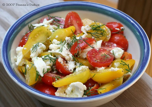 Tomato Salad with Fresh Dill Mozzarella