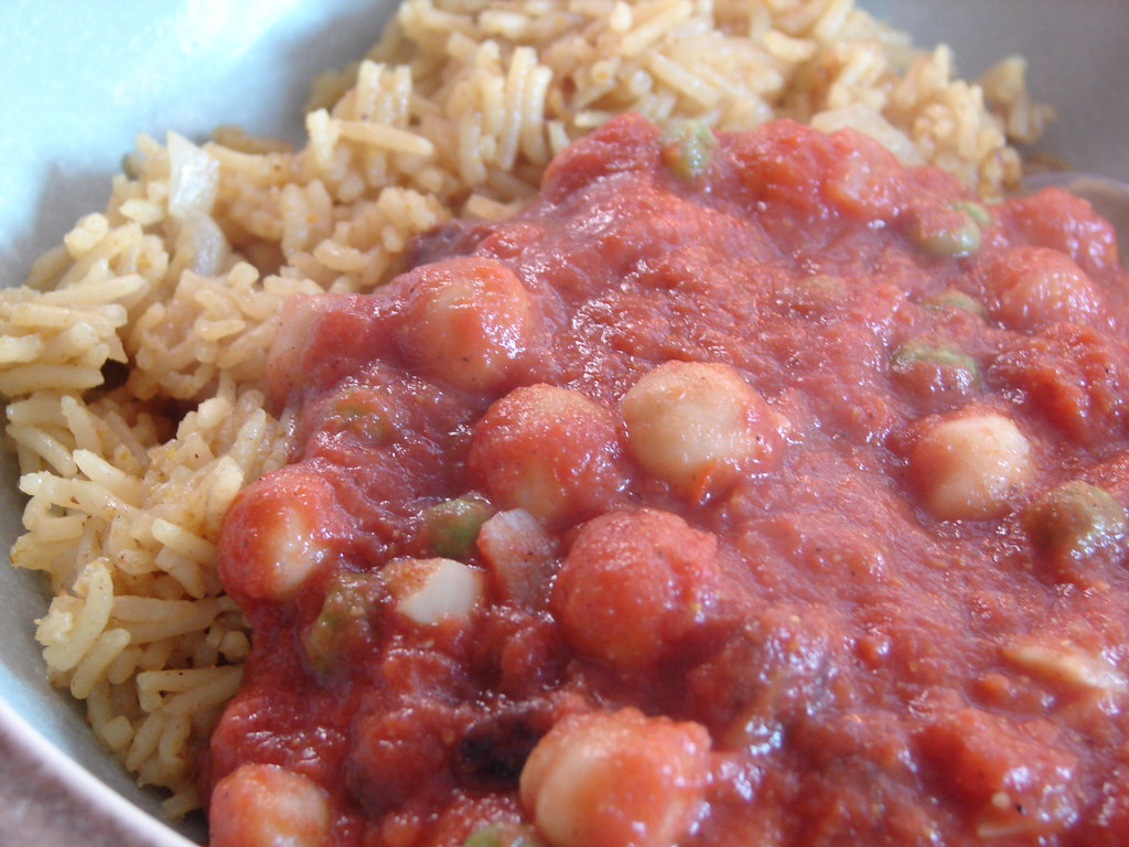 Curried Chickpeas and Rice
