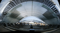 Inside the future Guillemins station (jepoirrier) Tags: panorama station architecture site construction belgium belgique gare belgi calatrava liege workings wallonie hugin sncb guillemins jaimeletrain