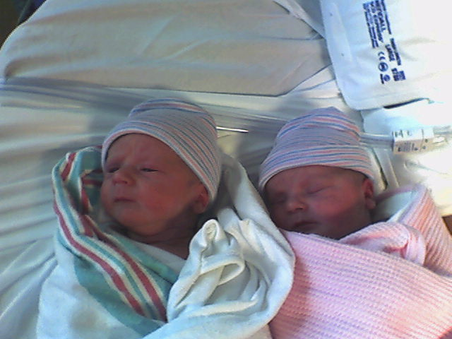 Brady and Peyton, born Sept. 20, 2007