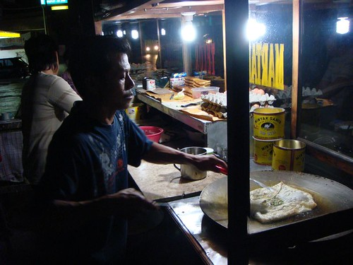 Martabak from a street food vendor in Kupang, Timor.