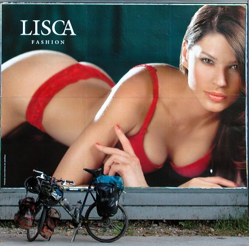 Sexy Model in Underwear / Lingerie (and my bike...) in Slovenia
